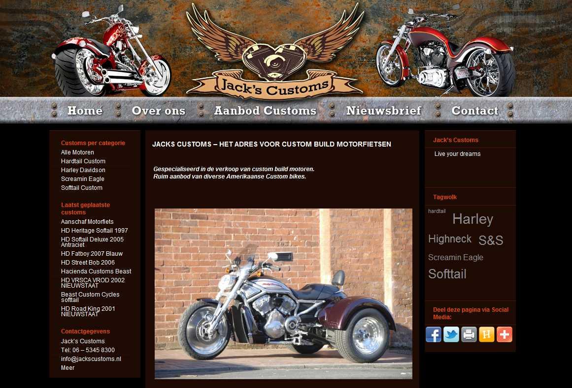 Screenshot Jacks Customs