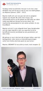 Bericht PauwR Facebook
